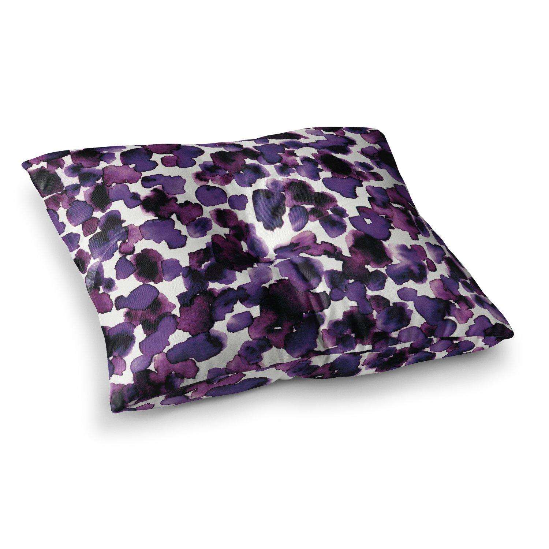 23 x 23 Square Floor Pillow Kess InHouse EBI Emporium Giraffe Spots-Purple Lavender