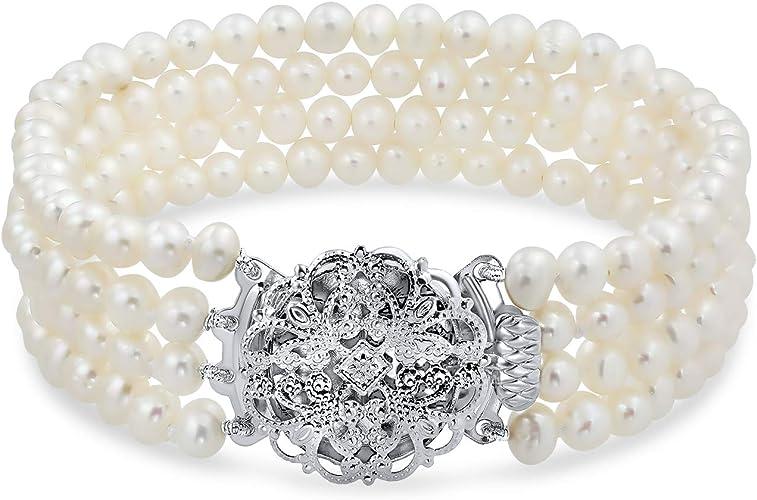 Pearl Bracelet wedding braccelet 5-6mm Freshwater Pearl Bracelet,white pearl bracelet,original bracelet,twisted pearl bracelet