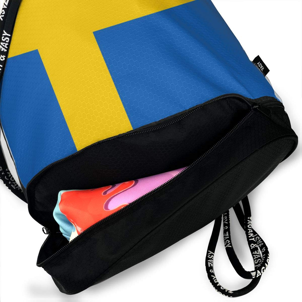 Swedish Flag Drawstring Bag Multifunctional String Backpack Custom Cinch Backpack Rucksack Gym Bag