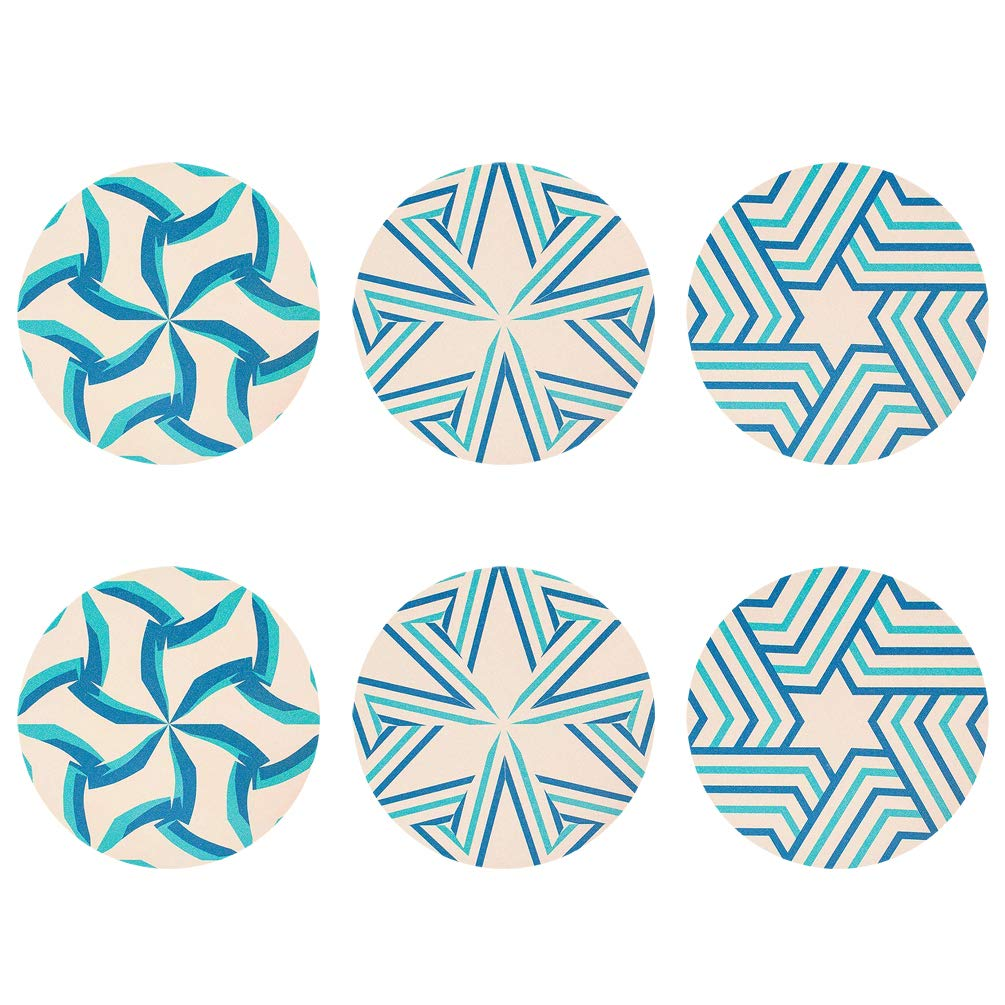 Tennessee State Flag Thin Cork Coaster Set of 4