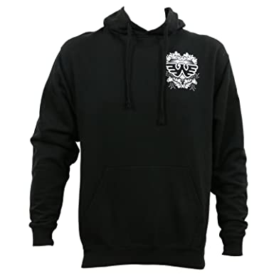 52dd88636c71 Waylon Jennings Men s Filigree Logo Pullover Hoodie Black at Amazon ...