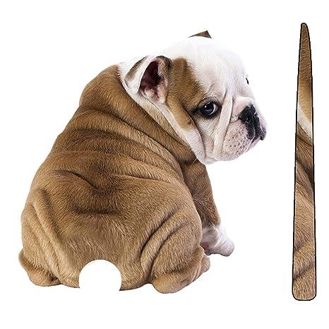 Ballylelly Pegatinas para perros de dibujos animados Calcomanías para limpiaparabrisas reflectantes Etiqueta para parabrisas