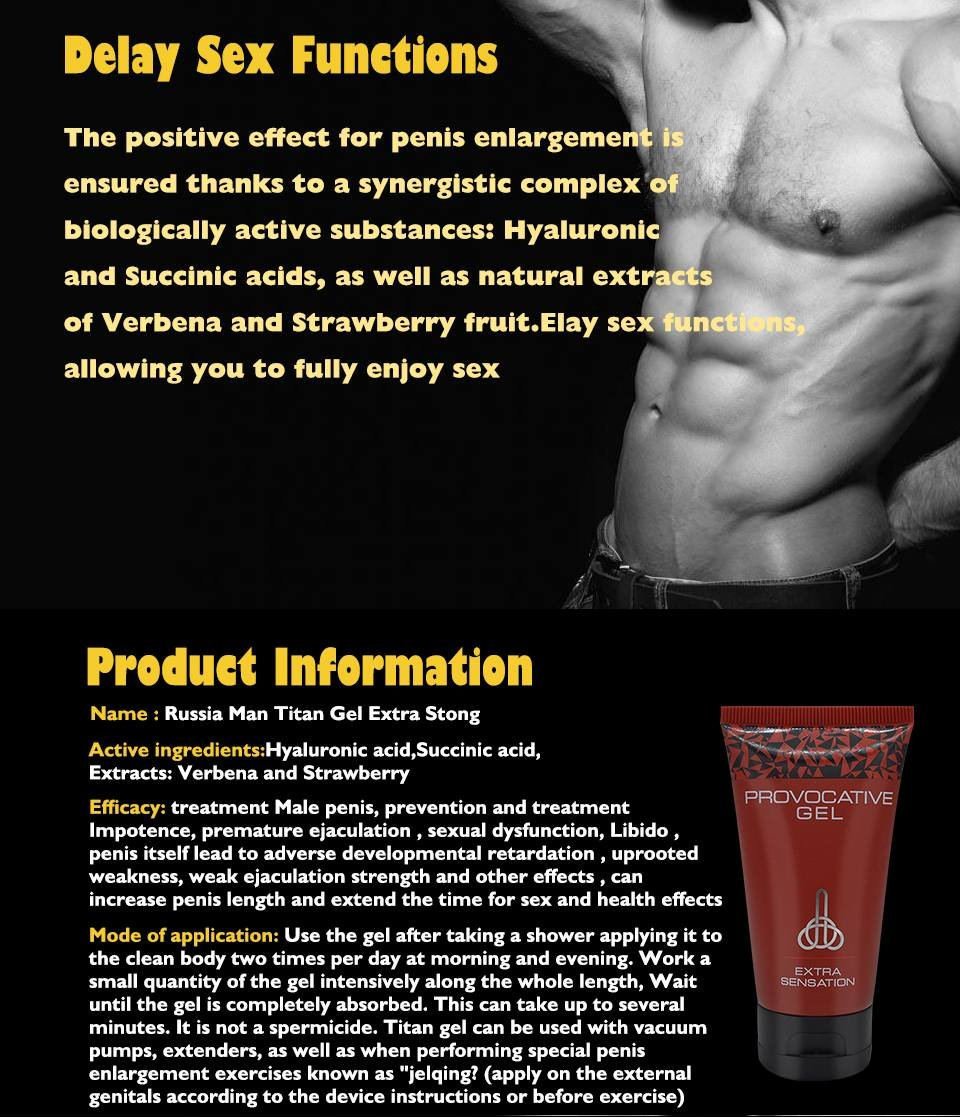 amazon com rpovocative titan gel extra sensation male enhancement