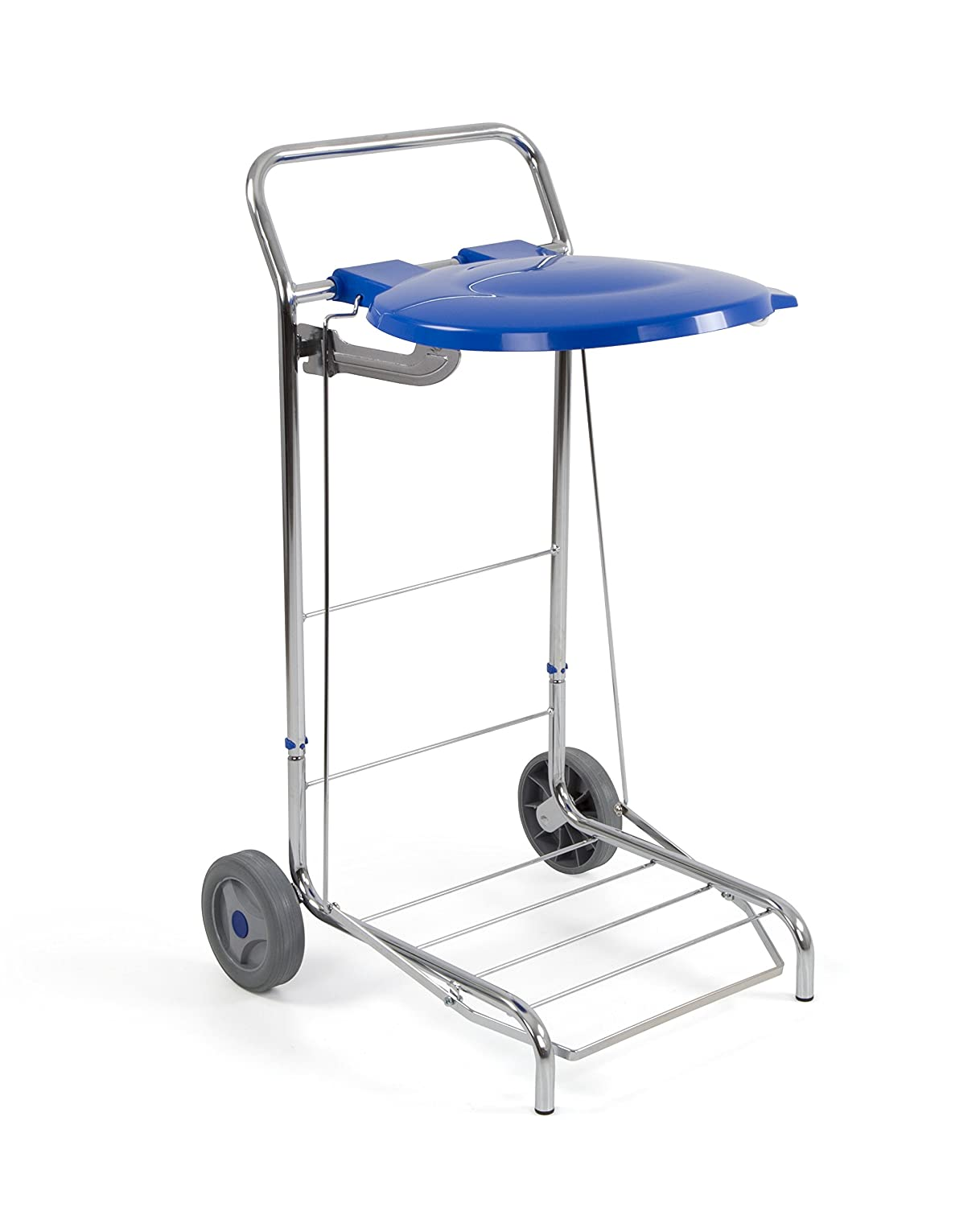 Two/Small Trays and One 75-litre Bag Jofel AL50250/Metallic Cart Trolley One/Large Tray Stainless Steel AISI 304