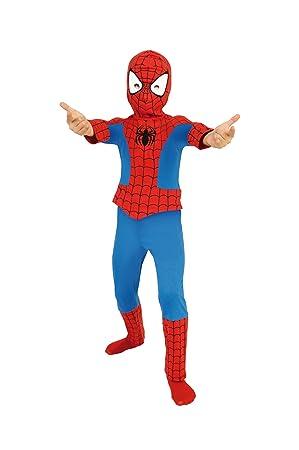 Marvel - Disfraz de spiderman con careta para niño (de 8/10 años ...