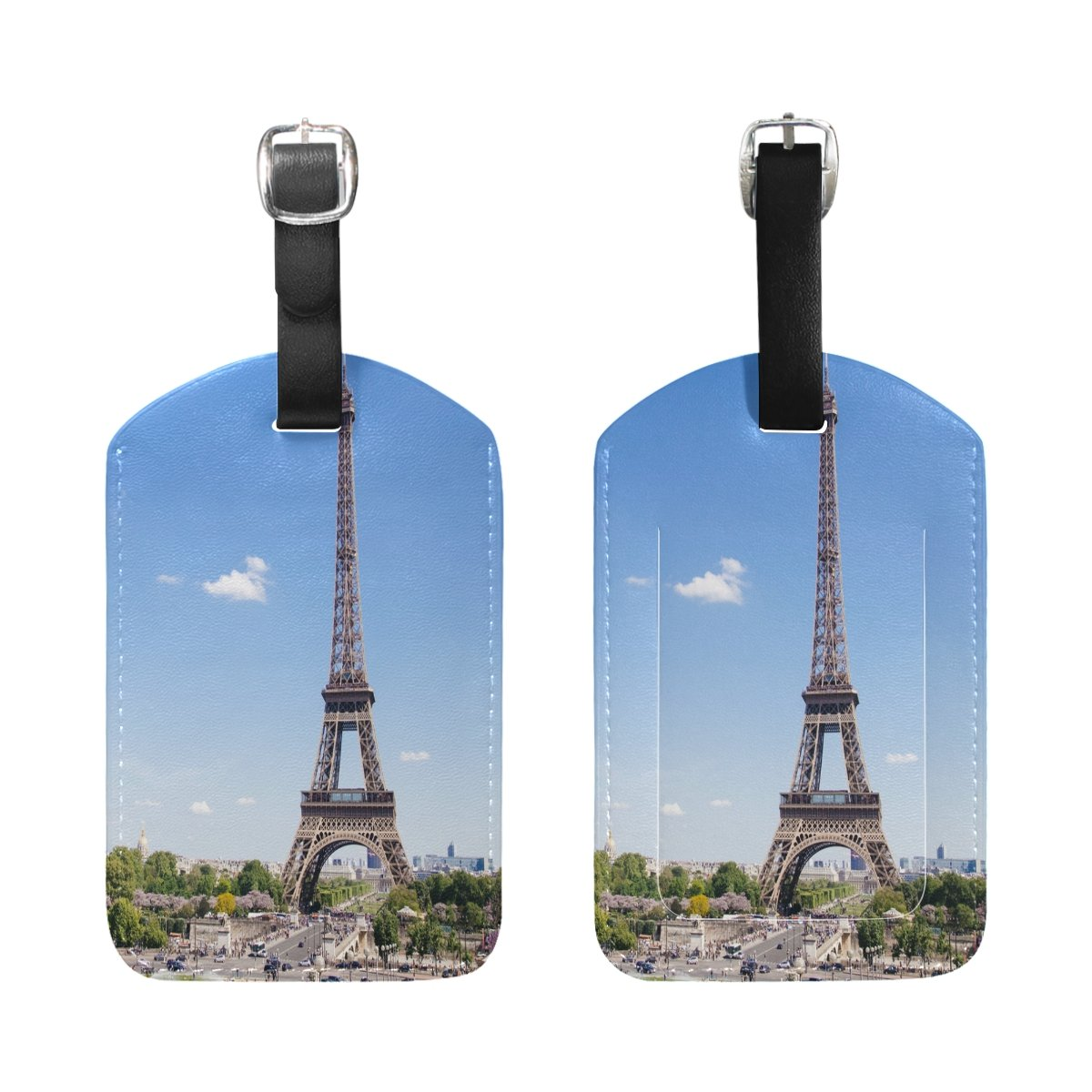 1Pcs Saobao Travel Luggage Tag France Eiffel Tower PU Leather Baggage Suitcase Travel ID Bag Tag
