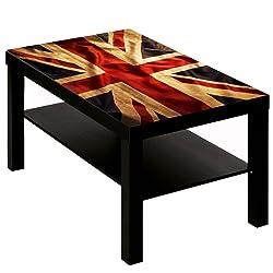 B-wie-Bilder.de Table Basse avec Motif Villes Drapeau Union Jack Angleterre