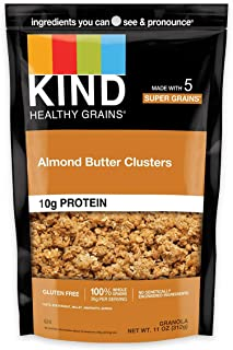 product image for KIND Healthy Grains Clusters, Almond Butter Granola, 10g Protein, Gluten Free, 11 Ounce (Pack of 6)