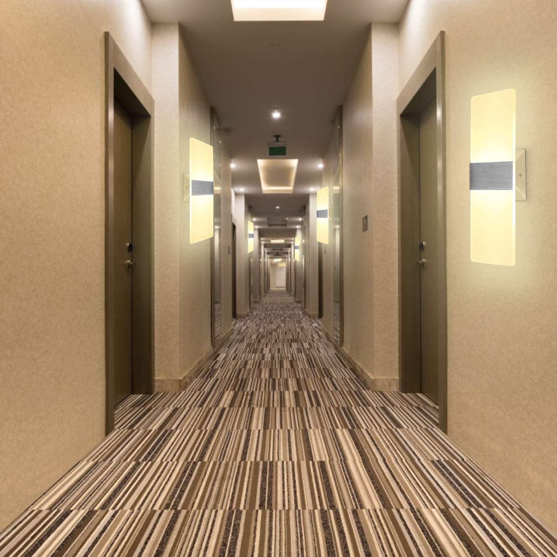 Dormitorio OOWOLF 2PCS 7W L/ámpara De Pared Interior L/ámpara de Decoraci/ón Para Corredor Apliques Pared Led Moderna Regulable 3 Temperatura De Color Escalera 3000K, 4500K, 6000K