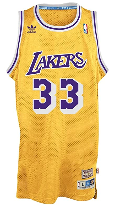 ab046a0bcf1 ... Kareem Abdul-Jabbar Los Angeles Lakers Gold Throwback Swingman Jersey  3XL NCAA UCLA Bruins 33 ...
