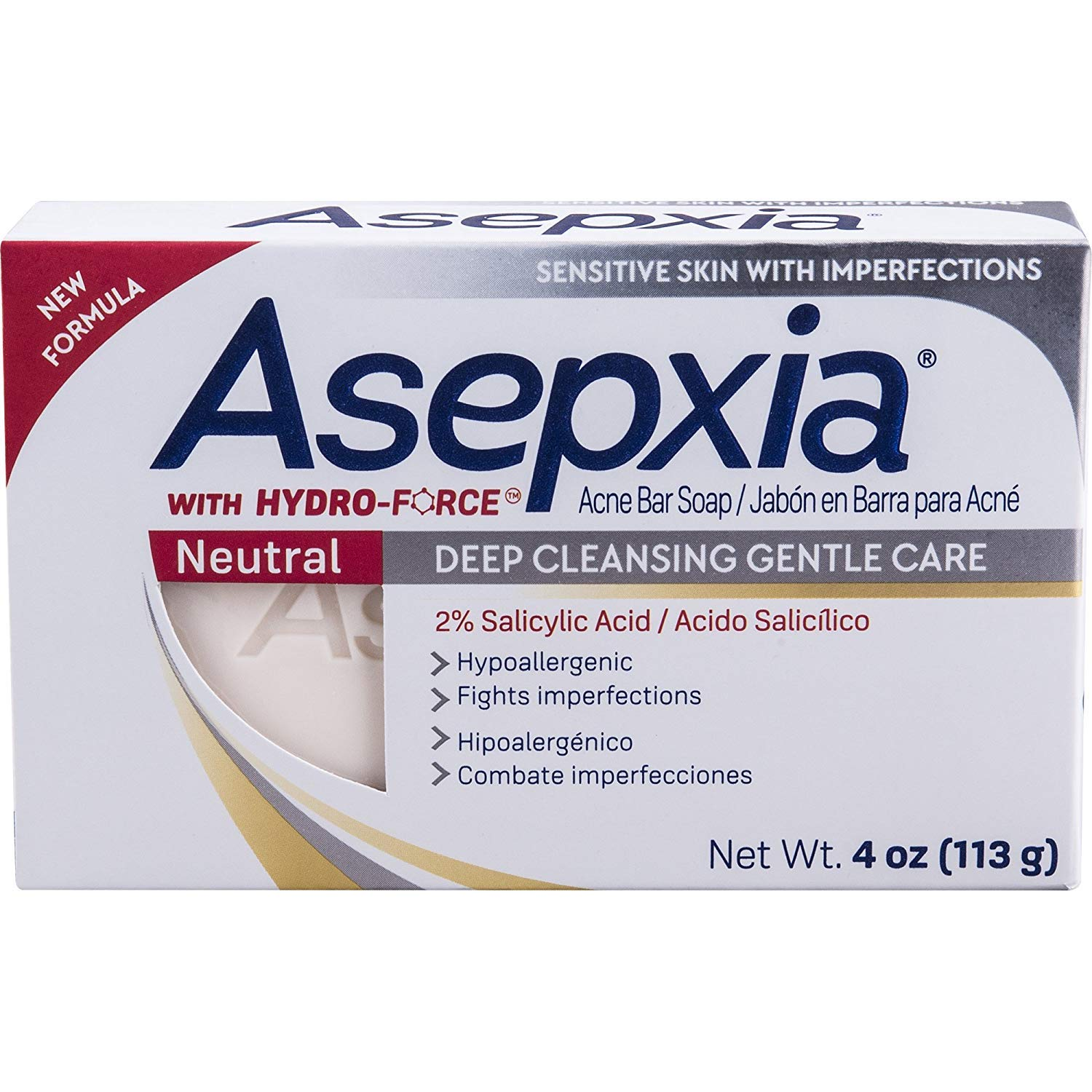 Asepxia Neutral Cleansing Soap Bar 3.53oz by Sanar