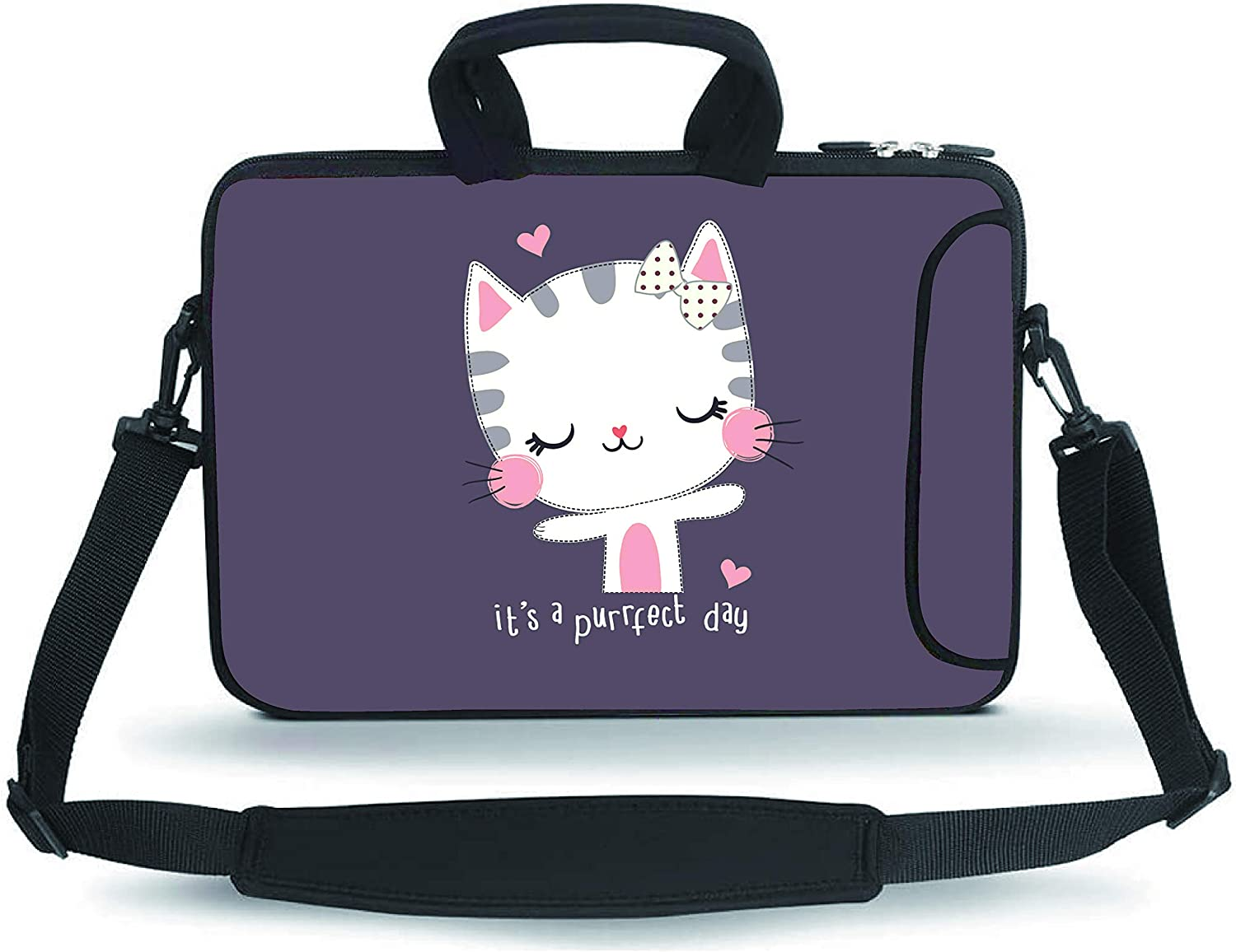 "RUYIDAY 11-13.3"" 14-15.6"" Neoprene Sleeve Notebook Messenger Case Tote Bag"