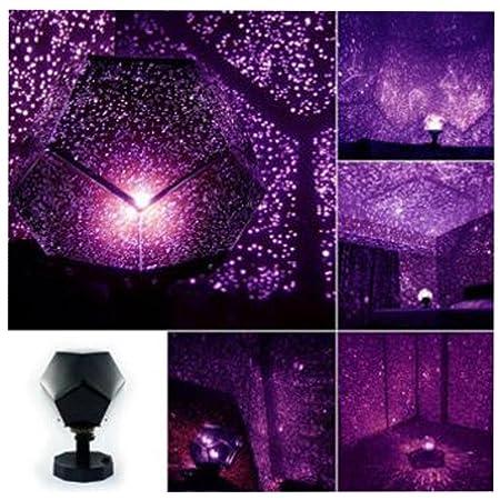 lampara proyector estrellas, proyector planetario educativo color púrpura by Sannysis