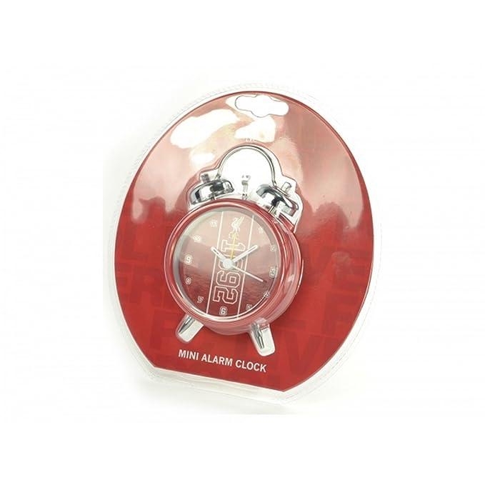 Liverpool FC Official - Mini reloj despertador con campanas (Talla Única/Rojo/Blanco