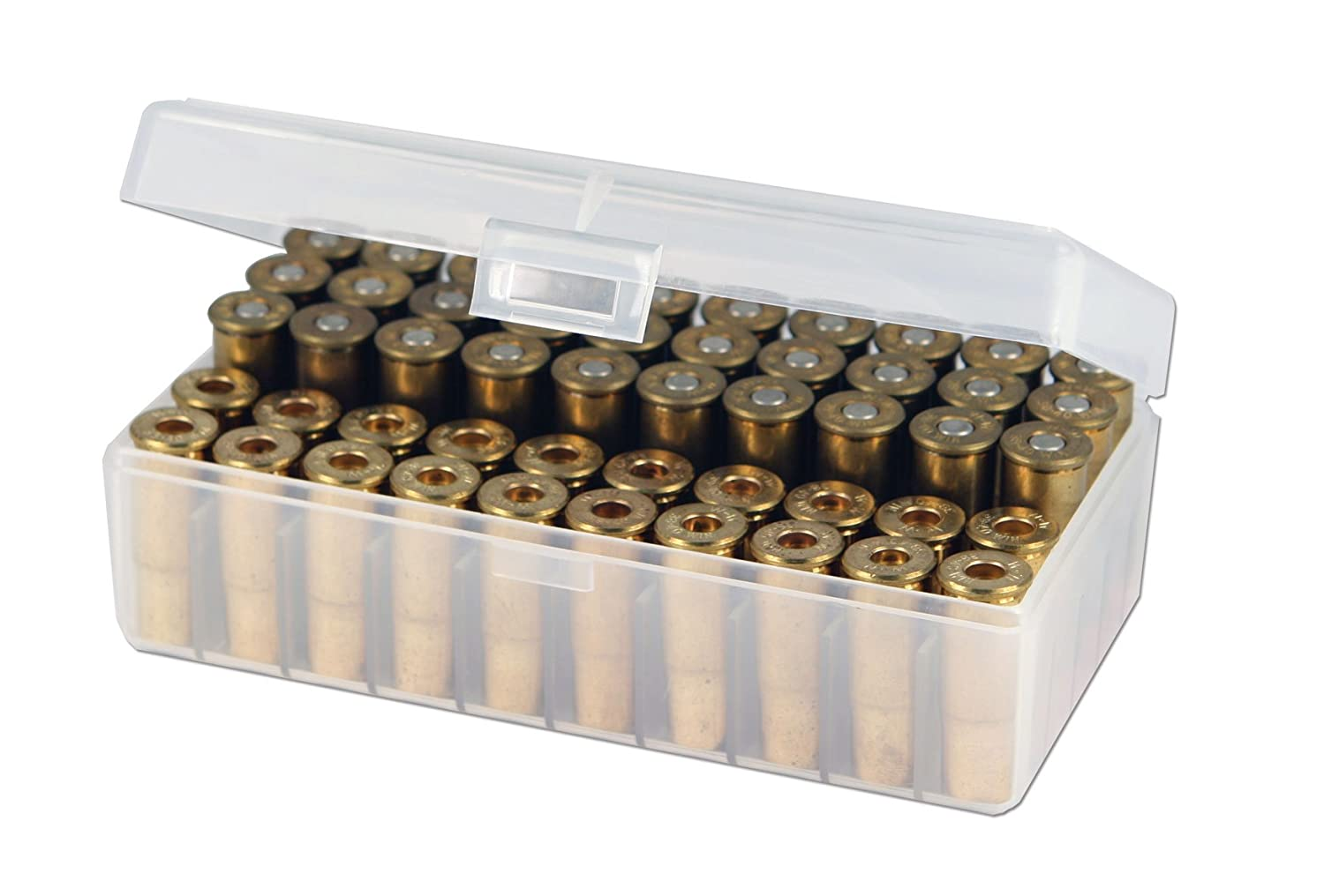 Berry's 50 Round Ammo Box, Clear Plastic Fits  44 Special /  44 Magnum
