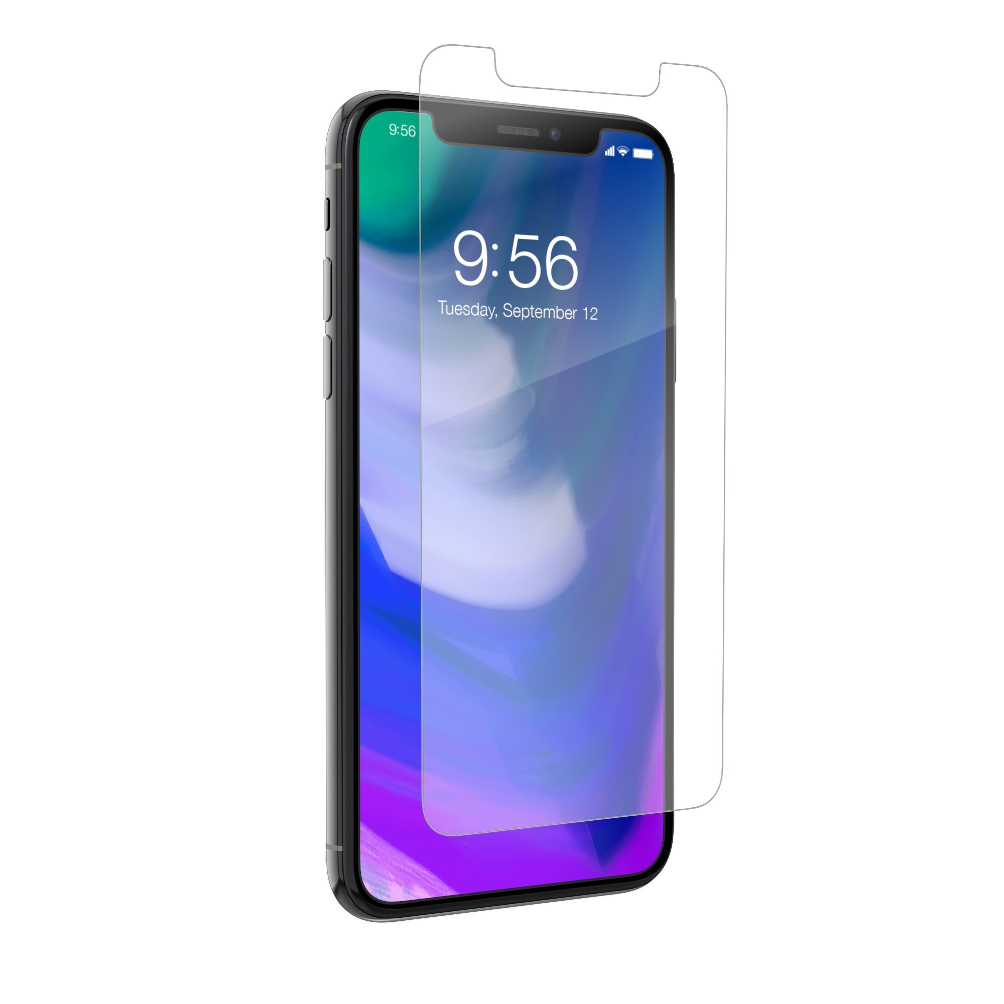 ZAGG InvisibleShield Sapphire Defense - Hybrid Glass - Screen Protector for Apple iPhone X - Clear