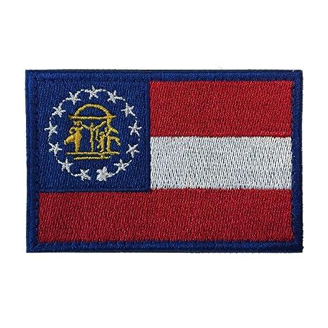 2 Usa Estado americano bandera de Georgia GA Militar Táctica moral ...