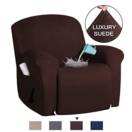 Awesome H Versailtex Recliner Chair Cover Velvet Suede Sofa Cover 1 Piece Recliner Covers For Large Recliner Sofa Covers Furniture Protector With Elastic Gmtry Best Dining Table And Chair Ideas Images Gmtryco