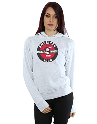 Disney Femme Mickey Mouse American Icon Sweat À Capuche  Amazon.fr  Vêtements  et accessoires 97f3b24ad762