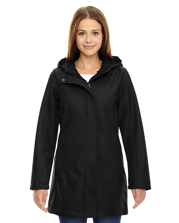 North End Ladies City Textu Three-Layer Fleece Bonded Soft Shell Jacket 78171 Ash City