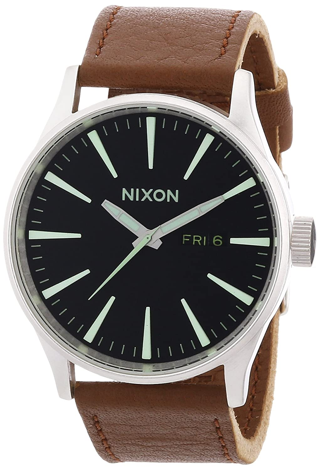 Nixon Sentry Leather -Spring 2017- Black/Saddle