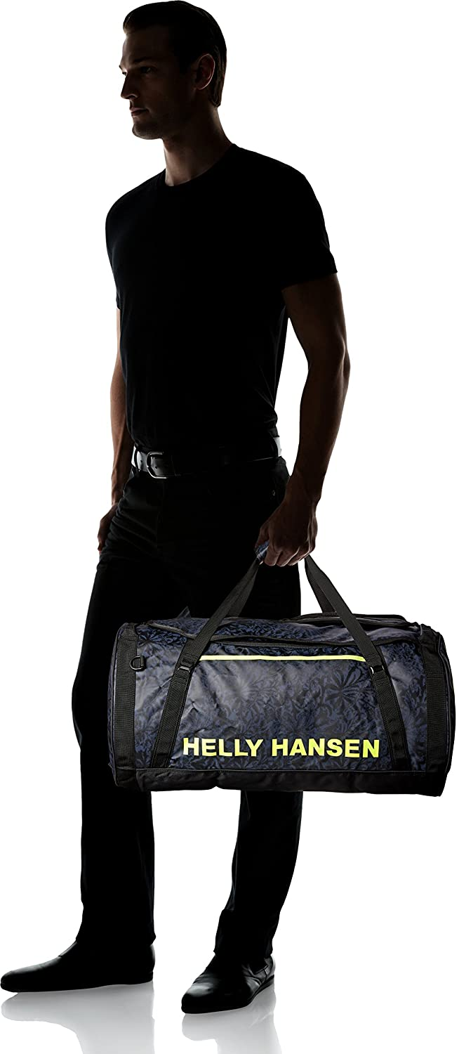 Amazon.com : Helly Hansen Duffel 2 Water Resistant Packable Bag with Optional Backpack Straps, 70-liter (Meduim), 993 Black / Print : Clothing