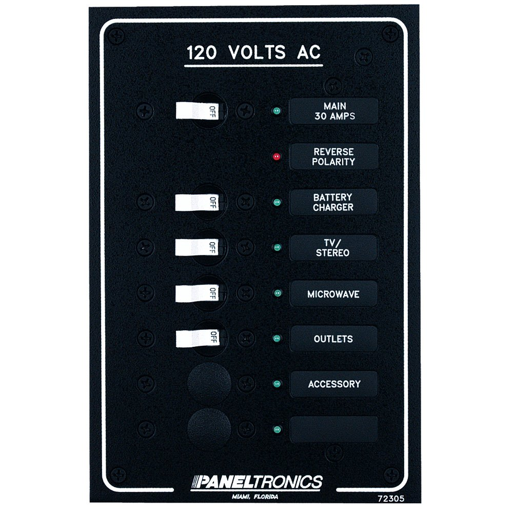 Paneltronics Standard AC 6 Position Breaker Panel & Main w/LEDs