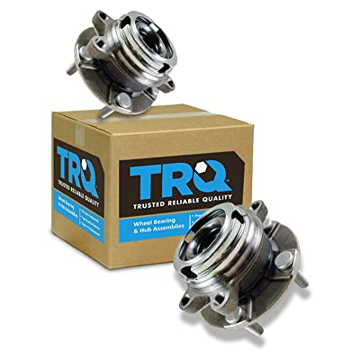 TRQ Front Wheel Hubs & Bearings Pair Set of 2 for Nissan Maxima Altima V6 w/ABS: Automotive