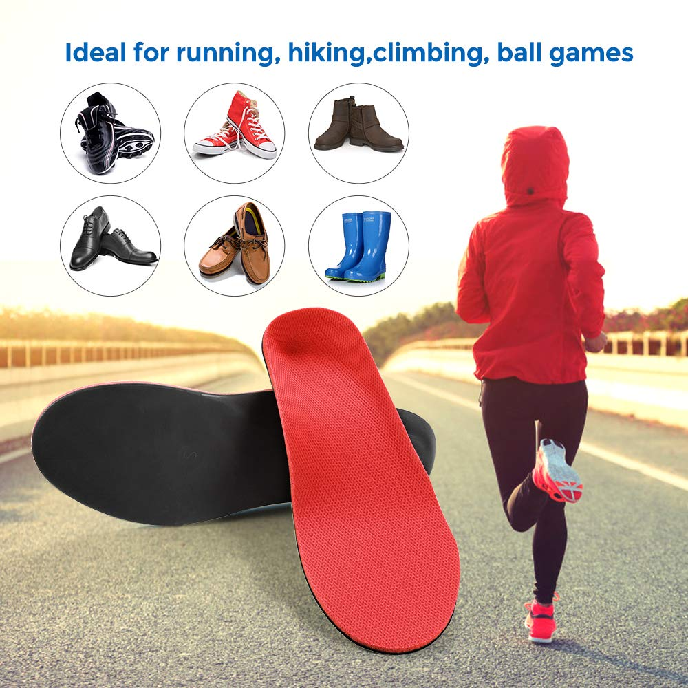 plantillas de soporte de arco de confort para hombres y mujeres red, XS:24CM Size:35-37 Plantillas ortop/édicas Inserciones de zapata de soporte alto para pies planos