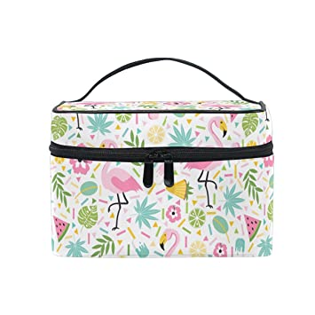 Amazon.com: Bolsa de maquillaje, Flamingo lindo bolsa de ...