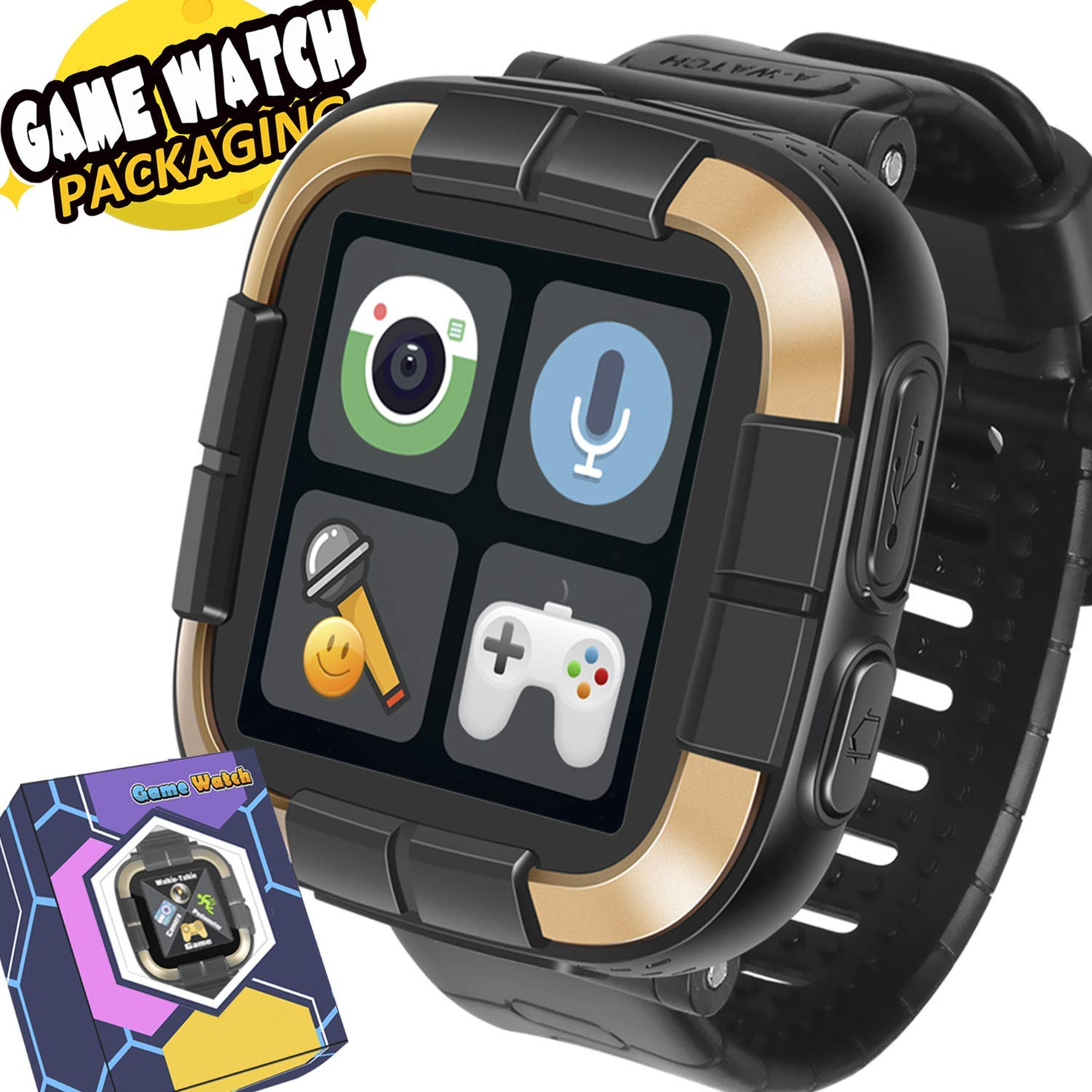 Game Smart Watch for Kids / Walkie Talkie Watches with Digital Camera Alarm Timer Stopwatch, Touchscreen Sports Kids Watch Music Pedometer, Wrist ...