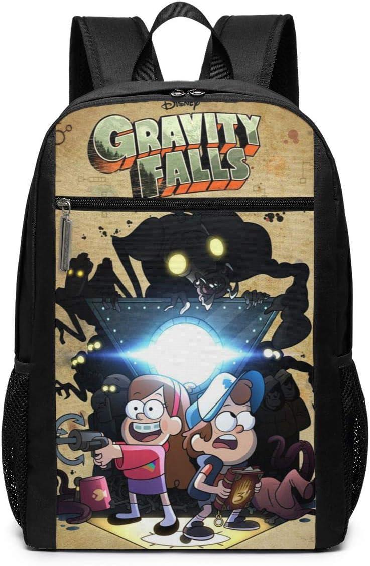 JamesMMika Gravity Cartoon Falls Girls Boys Backpack Cute Bookbag Travel Daypack