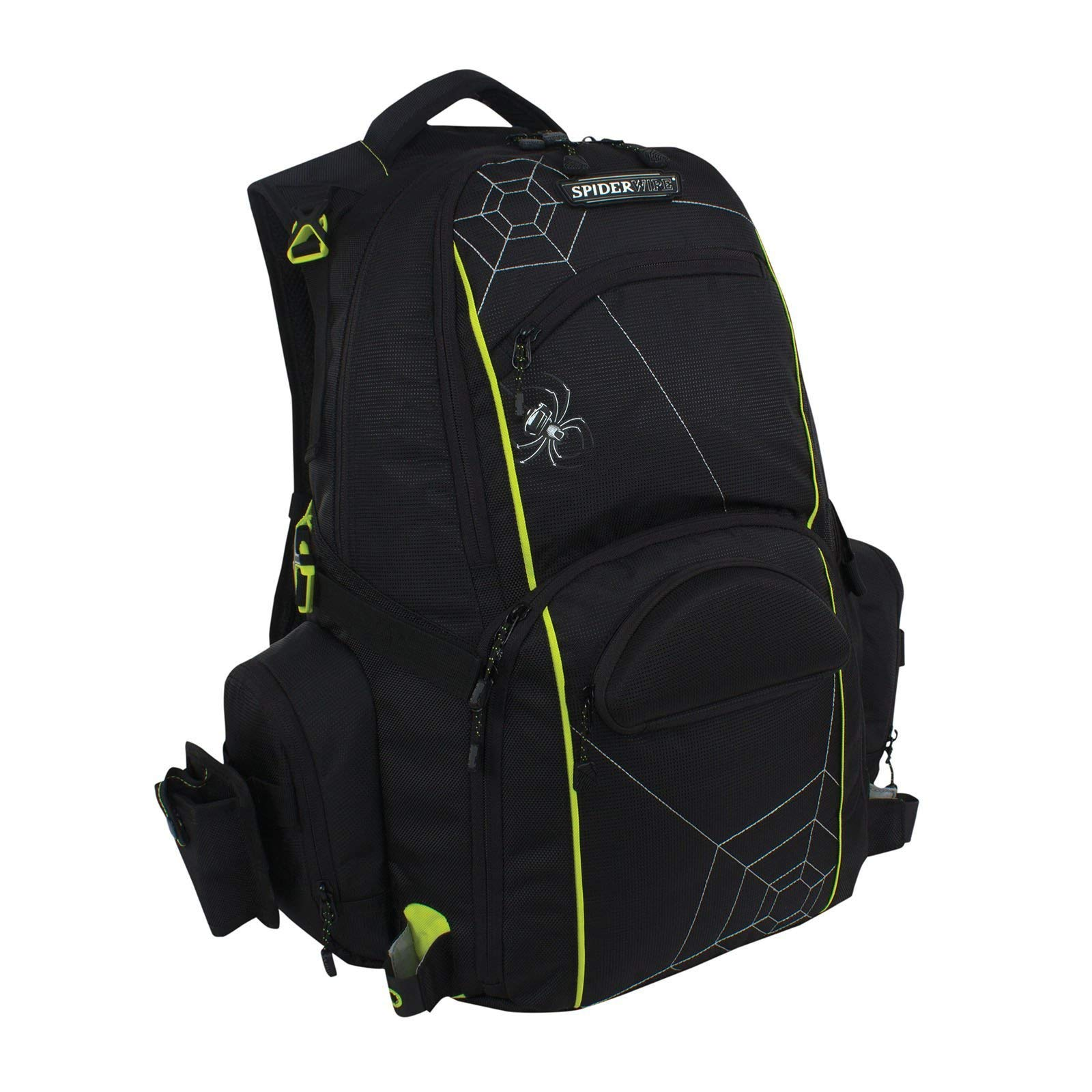 Spiderwire Fishing Tackle Backpack W/ 3 Medium Utility Boxes SPB006 by Spiderwire