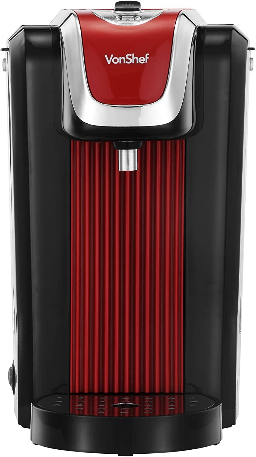 Drip Tray Maximum 2600W VonShef Hot Water Dispenser Instant Kettle//Catering Urn Black 2.5 Litre Capacity