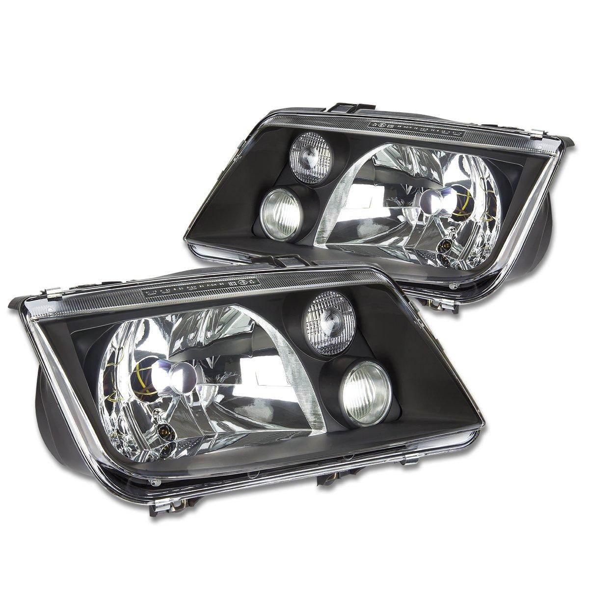 Driver /& Passenger Side DNA Motoring HL-OH-VWJE99-BK Headlight