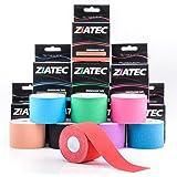 Ziatec Pro Kinesiologie Tape, Nastro elastico per bendaggio kinesiologico, uso fisioterapico, sportivo, per il tempo libero e per uso medico 100% cotone, impermeabile