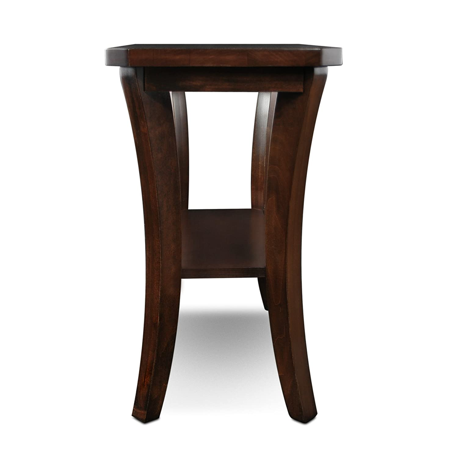 amazoncom leick furniture boa collection solid wood narrow chairside endtable kitchen  dining. amazoncom leick furniture boa collection solid wood narrow