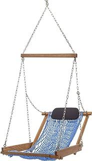 product image for Nags Head Hammocks Cumaru Hanging Hammock Chair, Coastal Blue DuraCord