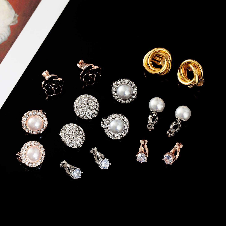 Pendientes para ni/ña con zorro blanco y oro rosa 8 x 7 mm plata de ley 925 Laimons color rojo-marr/ón
