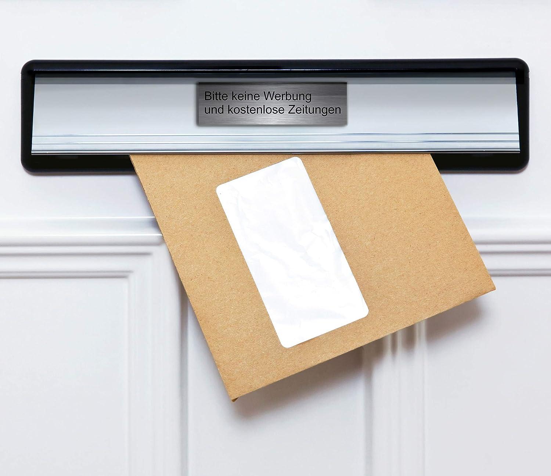 M8 T/ürschild Briefkastenschild 7x2 cm Selbstklebend Bitte keine Werbung