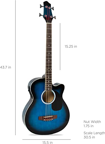 Best Choice Products Acoustic-Electric Bass Guitar