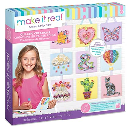 Amazon Com Make It Real Quilling Creations Diy Quilling Kit For