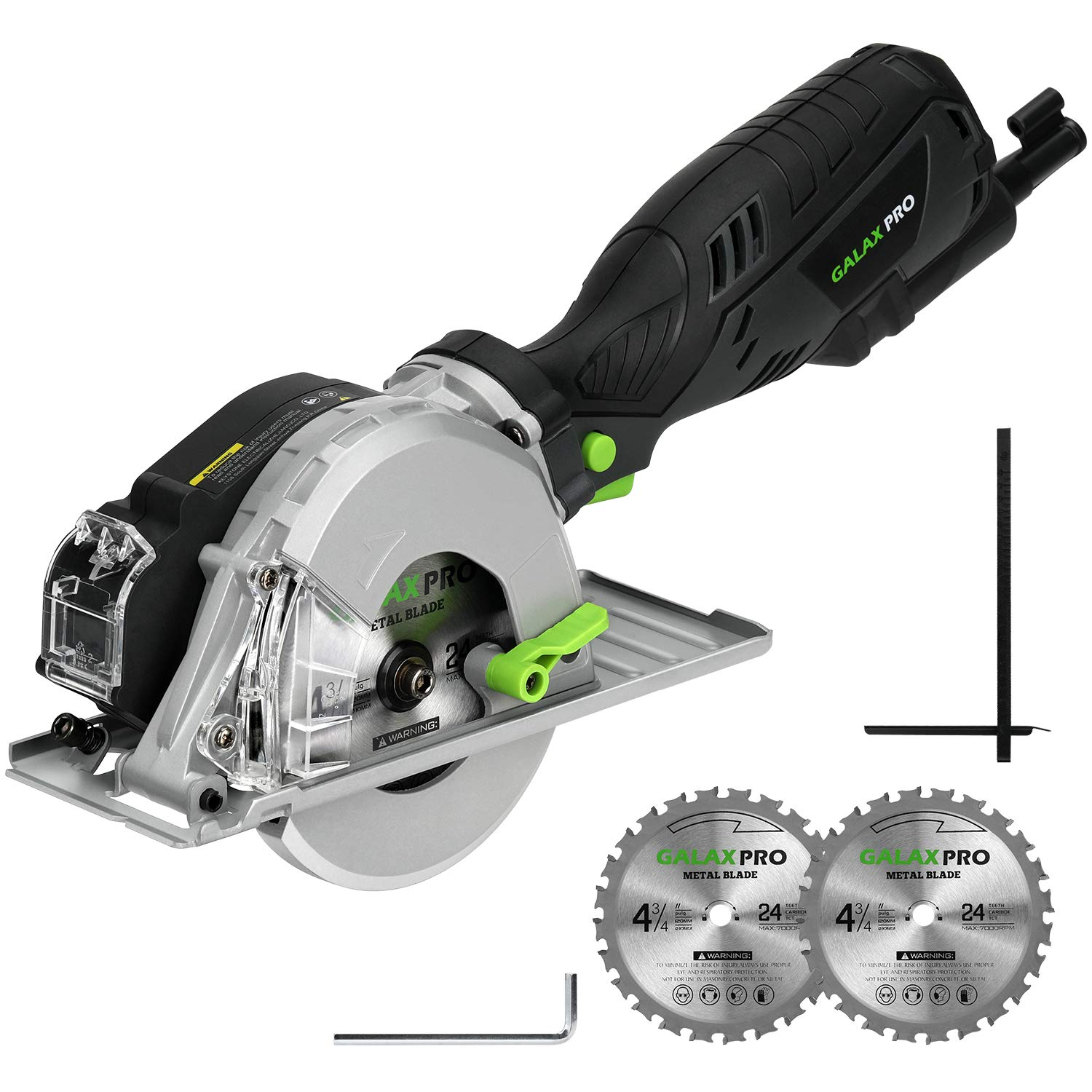 Metal Cutting Circular Saw, GALAX PRO 5.8A 3500RPM 4-3 4 In. Metal Circle Saw with 2PCS Metal-Cutting Saw Blades for Conduit, Pipe, Sheet Metal, Square Tubing Cutting