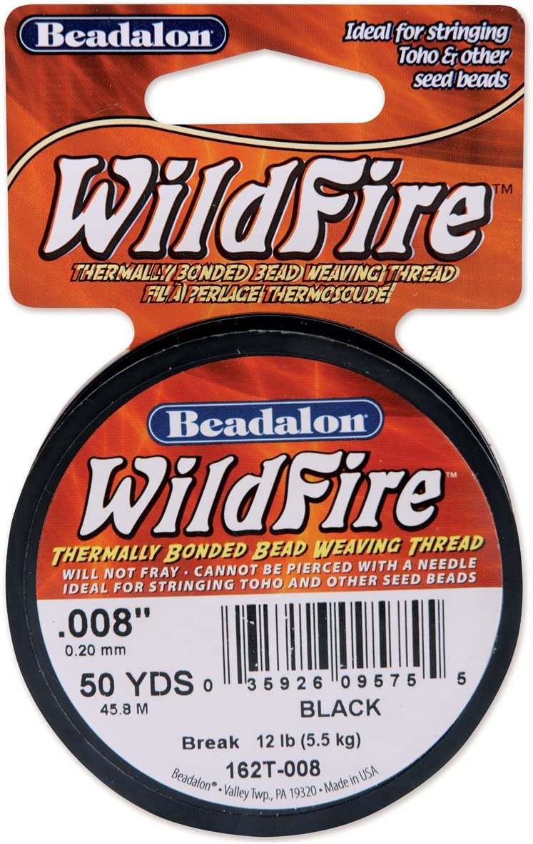 Beadalon Wildfire Stringing Wire .008 X50-Black