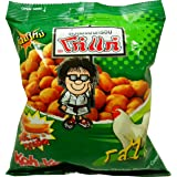 Koh-kae Snack Peanut with Chicken Flavor Coated Net Wt 95 G (3.35 Oz) X 5 Bags