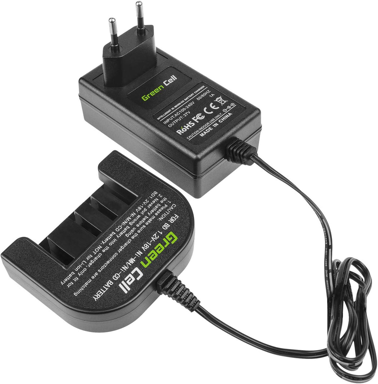 1.2V-12V-18V Ni-MH BD1218 f/ür Elektrowerkzeuge Black /& Decker Netzteil A12 A12EX A14 A1712 BD1204L BD12PSK BD1444L BD14PSK BD18PSK FS1200D FSB12 HP12K HPB12 HPB14 HPD1202 PS122K Green Cell Ladeger/ät