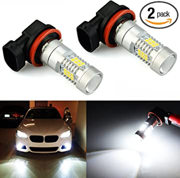Amazon Com Jdm Astar Bright White Px Chips H11 Led Fog Light Bulbs With Projector Automotive