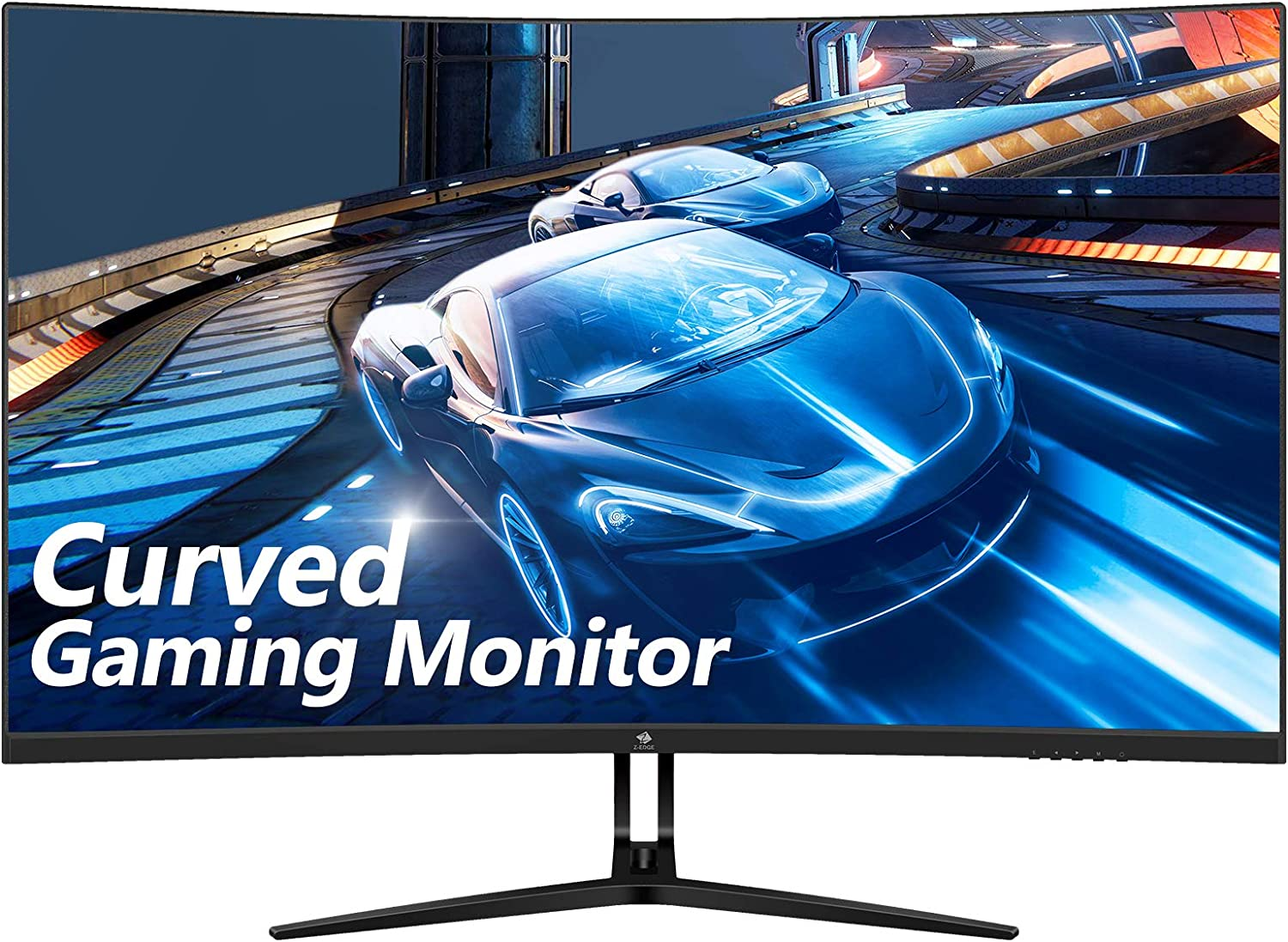 Z-Edge 32-inch Curved Gaming Monitor 16:9 1920x1080 165/144Hz 1ms Frameless LED Gaming Monitor, AMD Freesync Premium Display Port HDMI Build-in Speakers
