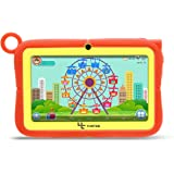 Yuntab 7 Pollici quad core Android Tablet PC Q88R iWawa Kids Learning & Playing App load Google Android 4.4 KitKat 1024*600 HD Touch Screen 512MB RAM 8G ROM Wifi Bluetooth Games doppia fotocamera External 3G, Supporta Play Store Google Youtube, Netflix, Games With Silicone Adjustable Stand Case (Arancia)