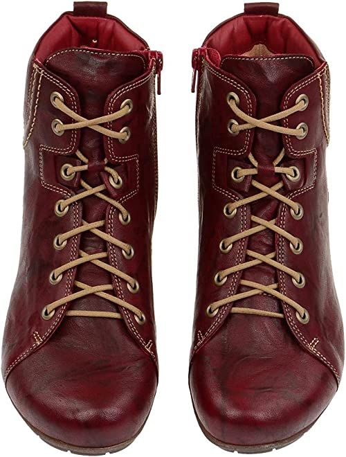 Think Menscha Stiefel rot rosso 7 87076 72